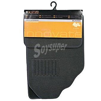 BC CORONA GOM001012 Juego de alfombras universal de moqueta para automóvil 4 piezas