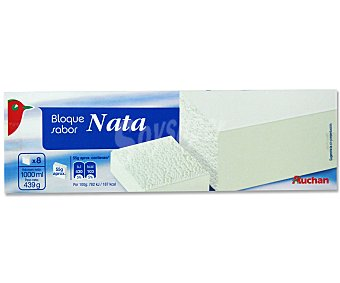 Auchan Helado de nata en bloque 1 l