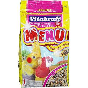 VITAKRAFT MENU Alimento completo para cotorras paquete 1 kg Paquete 1 kg