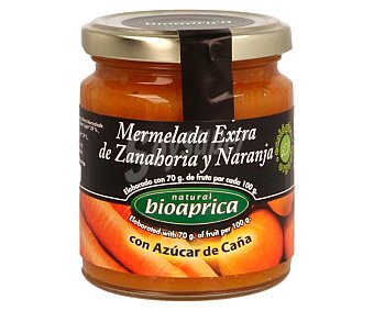 Bioaprica Mermelada extra de zanahoria y naranja ecológico 275 g