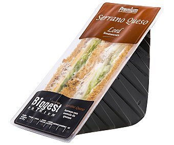 Lord Sandwiches Sándwich de jamón serrano y queso Havarti 175 gramos