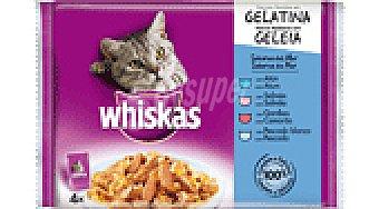 Whiskas Alim. gatos pescado 4 paq 85 GRS