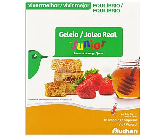 Auchan Jalea real con aroma de fresa (suplemento alimenticio), para niños 10 unidades