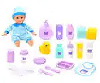 ONE TWO FUN ALCAMPO Conjunto de bebé de 30cm con 18 accesorios de cuidado alcampo