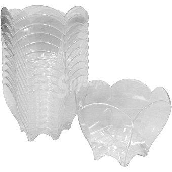 CASACTUAL bol tulipan pequeño de aperitivo transparente 70 cc paquete 12 unidades 70 cc