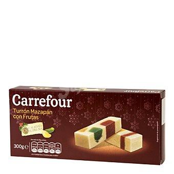 Carrefour Turrón de mazapán con frutas 300 g