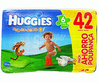 Huggies Pañales superseco t6 17 28kg