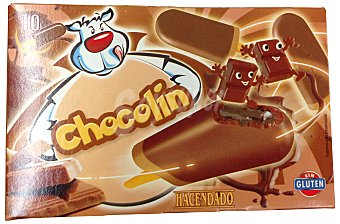 HACENDADO Helado palo chocolate Chocolín Caja 10 u