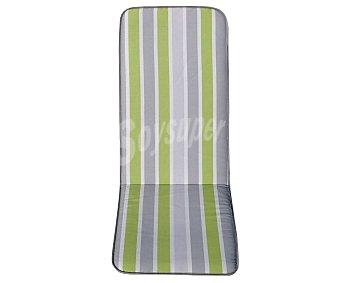 Productos Económicos Alcampo Cojín para sillas multiposicones de rayas verdes y grises 1 unidad
