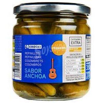 Eroski Pepinillos sabor anchoa Frasco 190 g
