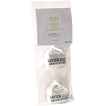 Xavier mor chocolatier trufa blanca con pistacho de Sicilia y chocolate sin gluten bolsa 25 g