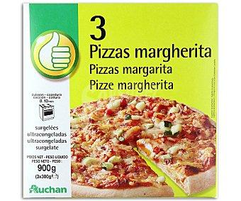 Productos Económicos Alcampo Pizza margarita 3 unidades de 300 gramos
