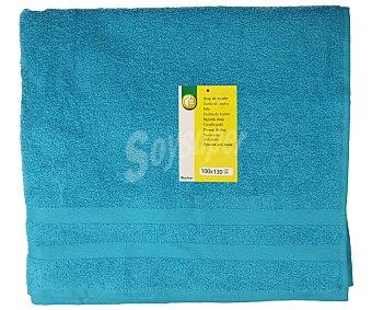 Productos Económicos Alcampo Toalla de baño color turquesa, 100x130 centímetros. Toallas 100% algodón y densidad de 360 gramos/m² 1 unidad