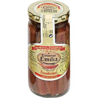EMILIA Filetes de anchoa del Cantabrico en aceite de oliva frasco 90 g neto escurrido Frasco 90 g neto escurrido