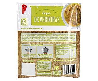 Auchan Sopa de verduras 80 gramos