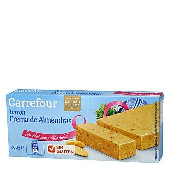 Carrefour Turrón blando crema de almendras 200 g