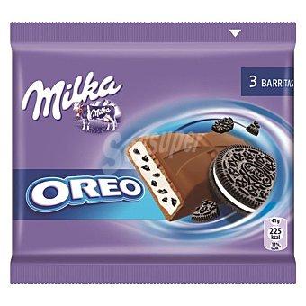 Milka Chocolate con leche relleno Oreo  Pack 3 u x 41 g