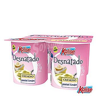 Kalise Yogur cremoso pastel de limón Pack de 4x125 g