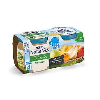 Naturnes Nestlé Seleccion tarritos multifrutas desde 4 meses  Pack 2 uds x 200 g