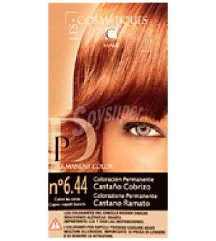 Les Cosmetiques Crema colorante permanente Castaño 1 unidad