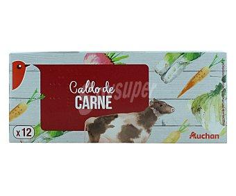 Auchan Caldo de carne 12 pastillas 128 gramos