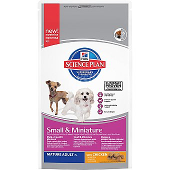 HILL'S SCIENCE PLAN MATURE ADULT Small & Miniature Alimento especial para perros +7 años de raza mini y miniature con pollo Bolsa 300 g