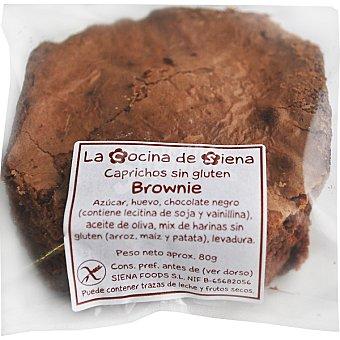 LA COCINA DE SIENA Brownie de chocolate al estilo tradicional sin gluten Envase 80 g