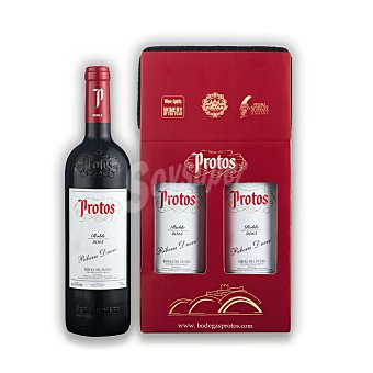 "Protos Lote 85: Estuche de vino D.O. ""ribera del Duero"" tinto roble Pack 2x75 cl"