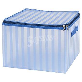 CASACTUAL Strippes Caja Large con asa en color azul a rayas 26 l 26 l