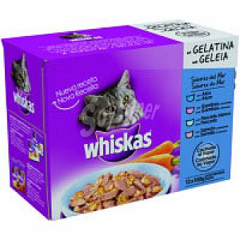Whiskas Alimento sabores del mar Pack 12x100 g
