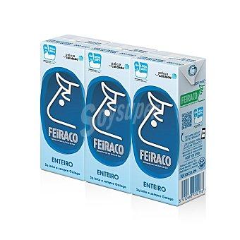 Feiraco Leche entera Pack 3 x 200 ml