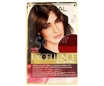 Excellence L'Oréal Paris Tinte de color castaño claro nº 5 Pack de 2 unidades