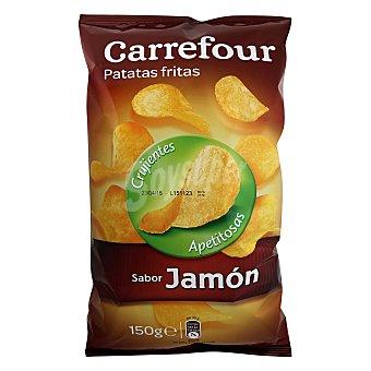 Carrefour Patatas fritas sabor jamón 150 g