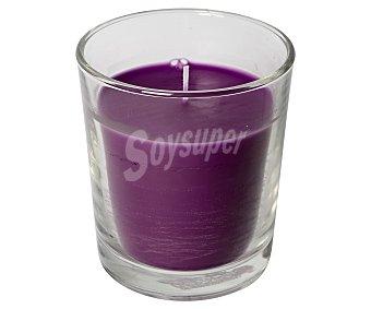 Auchan Vela color berenjena con olor a mora en vaso transparente 1 unidad