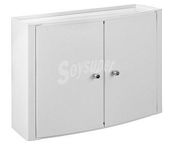 Tatay Armario horizontal de dos puertas para baño, colo blanco, fijación sin taladrar, 46x32x17 centímetros 1 Unidad
