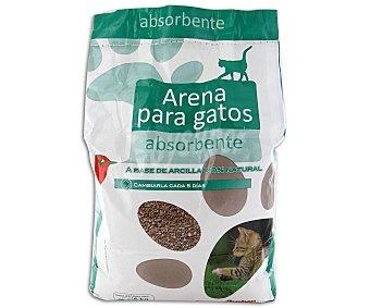 Auchan Arena absorbente para gatos a base de arcilla 100% natura 5 kilogramos