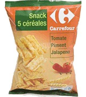 Carrefour Snack tejas 5 cereales tomate pimienta 75 g