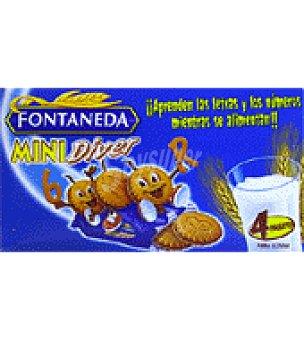 Fontaneda Galletas rellenas de crema sabor chocolate 'mini Diver' 168 g