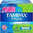 Tampones con aplicador Super Caja de 20 uds Tampax