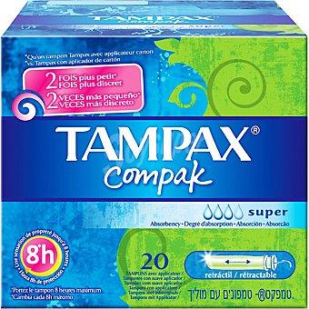 Tampax Tampones con aplicador Super Caja de 20 uds