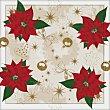 Servilletas de papel navideñas Flor de Pascua 3 capas 33x33 cm Paquete 20 unidades Gabbiano