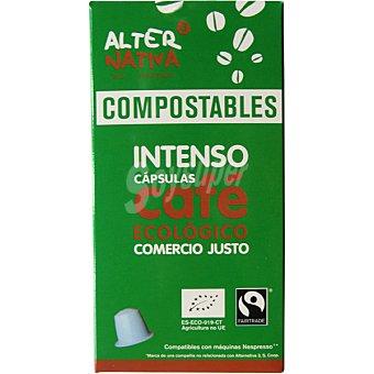 Alternativa 3 Café intenso ecológico estuche 10 cápsulas compostables y compatibles con máquinas Nespresso estuche 10 cápsulas