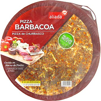Aliada Pizza barbacoa cocida en horno de piedra Envase 415 g