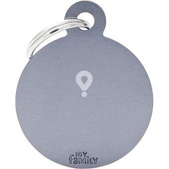 Placa identificativa para collares de perros esmaltada en material analérgico grande 1