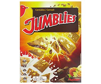 Auchan Cereales Jumblies Rellenos de Chocolate y Avellana 375 Gramos