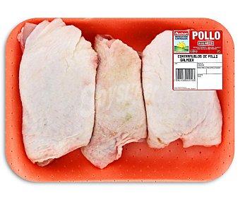 Bandeja de contramuslos de pollo con piel pollo 500 gramos aproximados