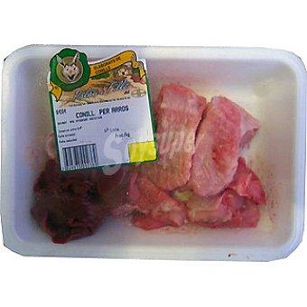 Palau Conejo troceado especial para paella peso aproximado Bandeja 500 g