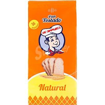 Los Compadres Pan tostado natural paquete 240 g paquete 240 g