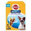 Snacks dental para perros pequeños Pack de 56 unidades Pedigree Dentastix