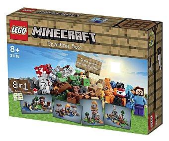 LEGO Juego de construcciones Mesa de trabajo Minecraft, 518 piezas, modelo 21116 1 unidad